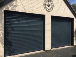 Image of Green Domestic Roller Garage Door