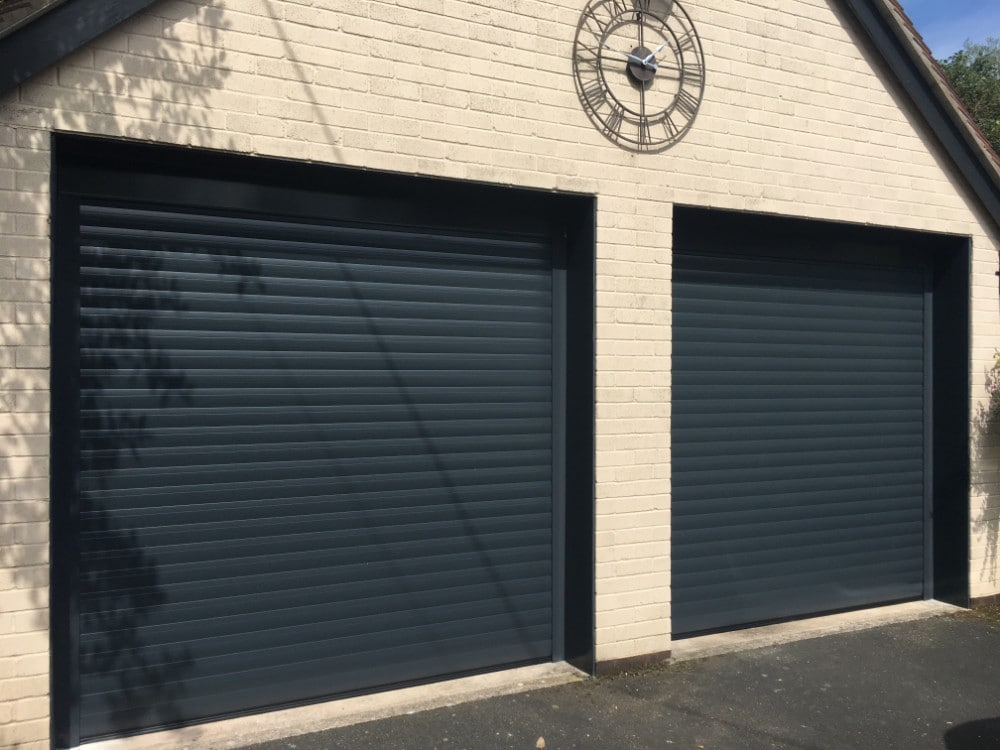 Image of Green Domestic Roller Garage Door