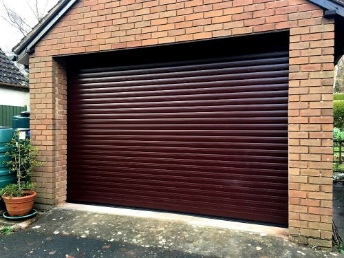 Image of a Domestic Roller Garage Door in Brown