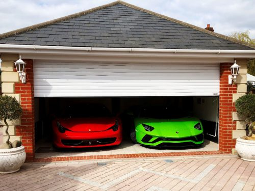 Image of White Domestic Roller Garage Door
