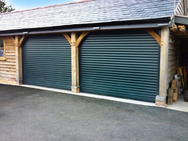 Fir Green Roller Garage Door