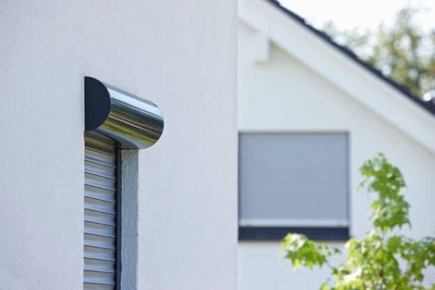 M411 aluminium security shutter with circular housing