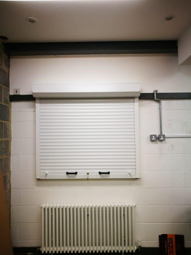 Image of White Domestic Security Shutter