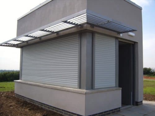 M511 Commercial roller shutter on judge's box