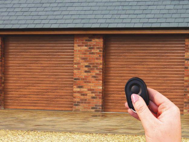 Somfy Remote control roller garage door