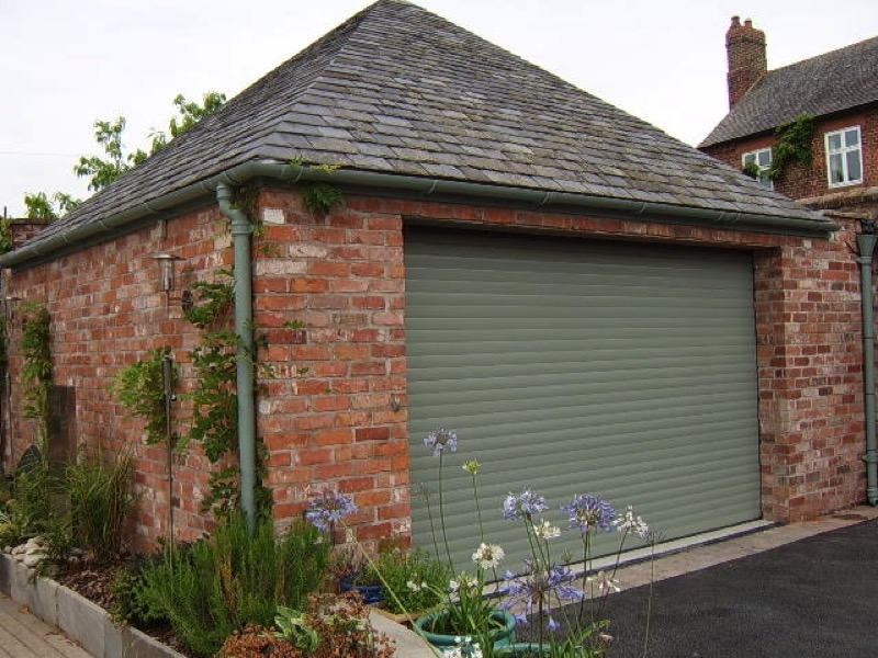 Chartwell green roller garage door