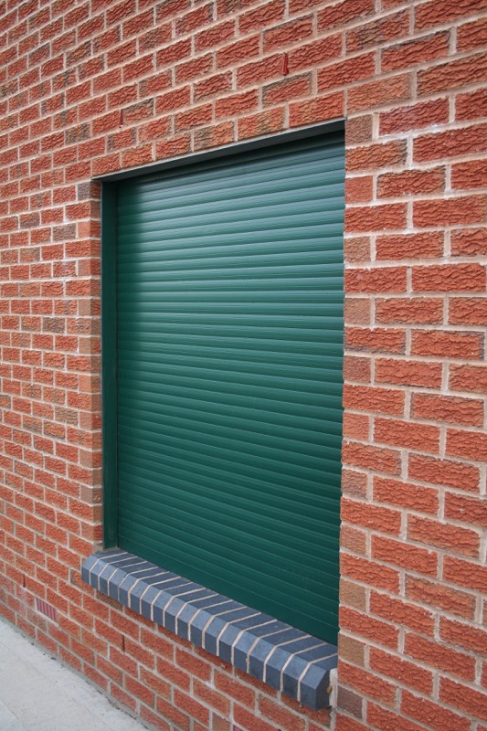 E37 Green Window Security Shutter Closed