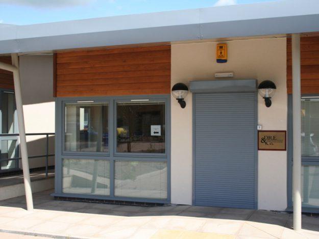 E37 security shutter on door