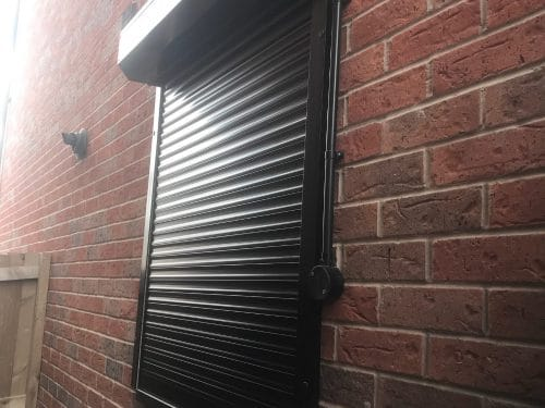 Image of a Black Domestic Security Shutter