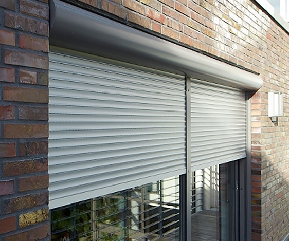 Stylish Domestic Security Shutter with Circular Housing