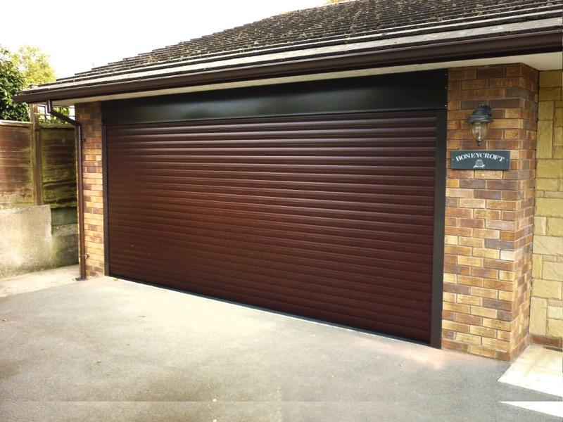 Classic Roller Garage Door Rosewood