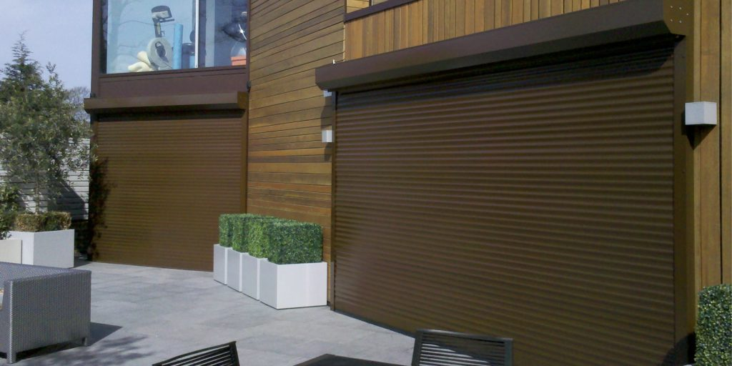 Shop Front Shutters Brown