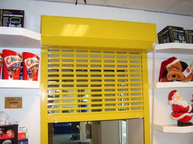 V37 Yellow Vision Roller Shutter