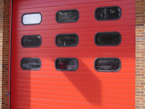 Industrial Doors Red