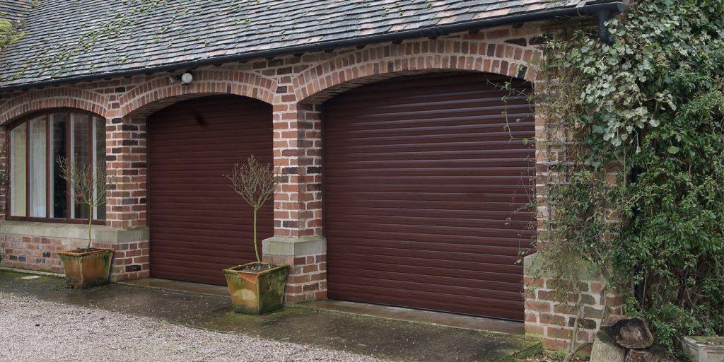 Roller Garage Door Classic Rosewood