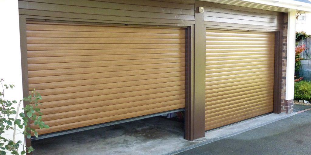 Roller Garage Door Twin Wood Effect