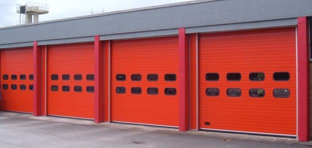 Sectional Doors Red